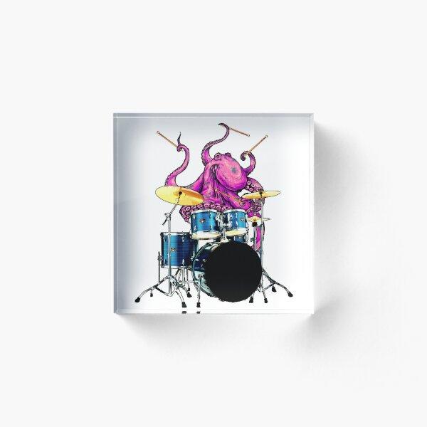 Drummer giant octopus Acrylic Block