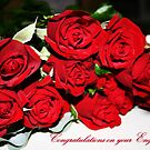Bunch of Red Roses Engagement Card by JuliaKHarwood
