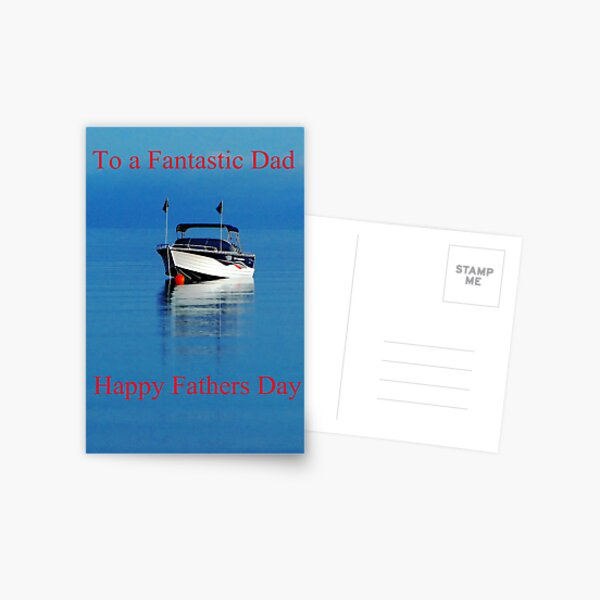 Boat fathers day card Postcard