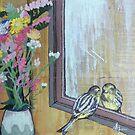 Bird Peering Into A Mirror by Alicia Rogerson