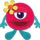 Cute Pink Monster  by CheriesArt