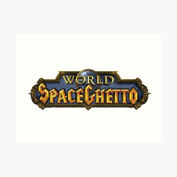 World of SpaceGhetto Art Print