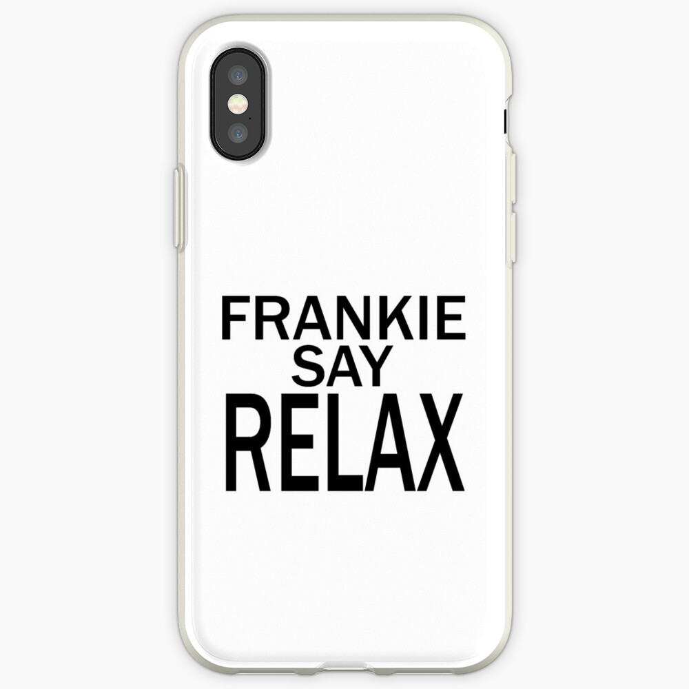 Frankie Say RELAX - BLK Funda y vinilo para iPhone