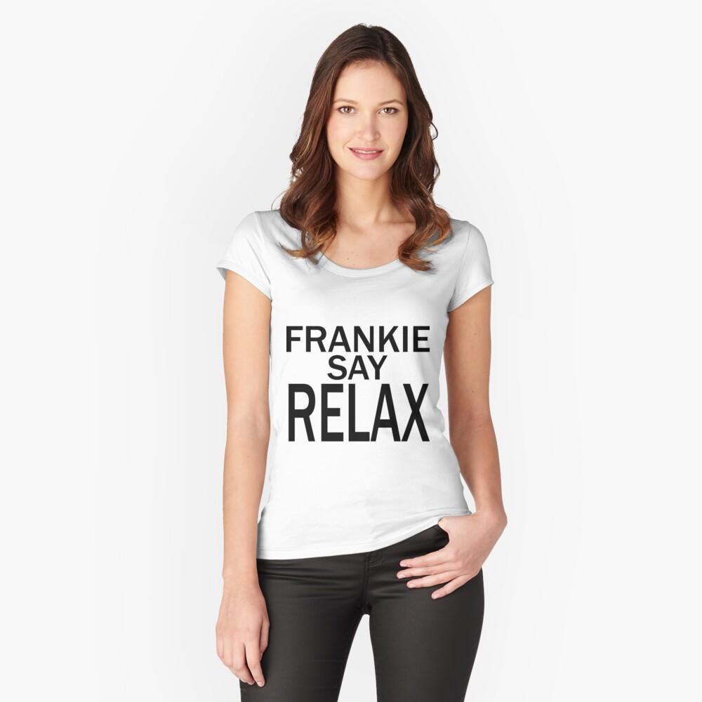 Frankie Say RELAX - BLK Camiseta entallada de cuello ancho
