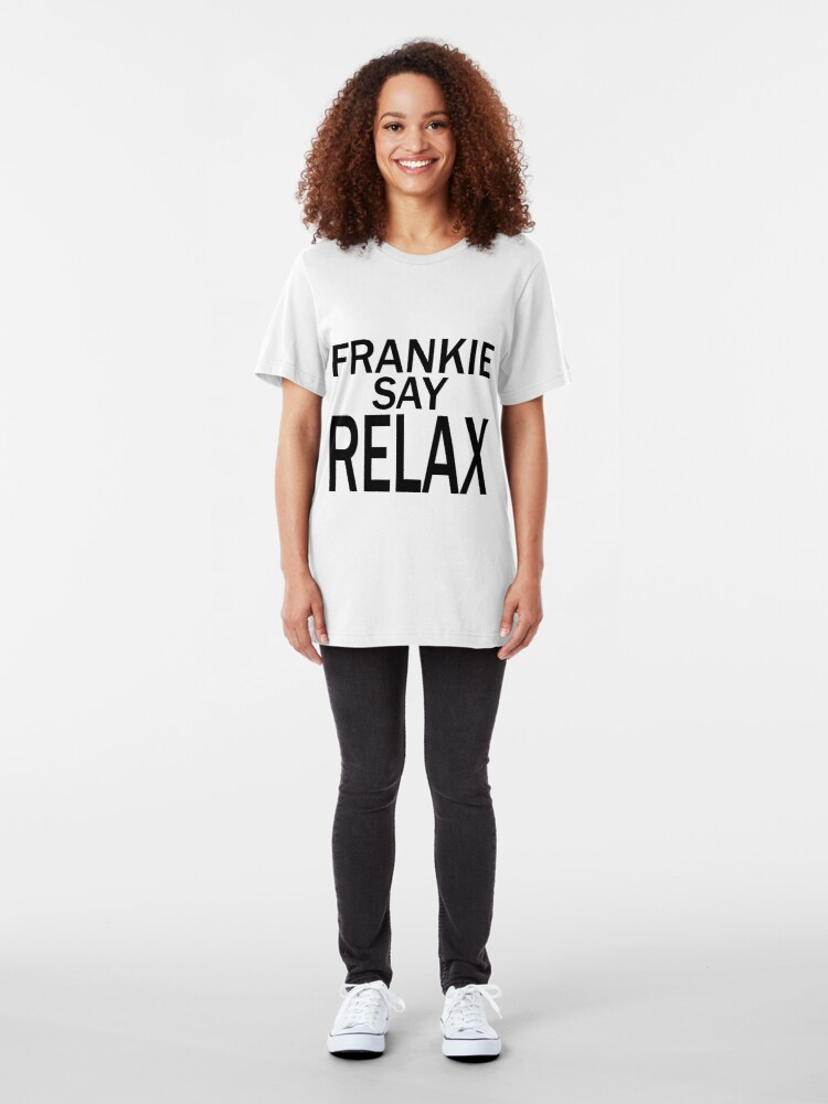 Vista alternativa de Camiseta ajustada Frankie Say RELAX - BLK