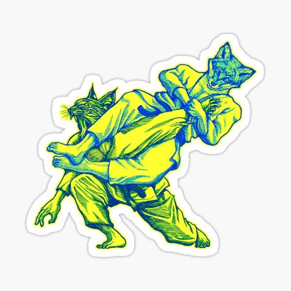 Martial Arts - Way of Life #3 - Fox vs Lynx flying armbar - jiu jitsu, bjj submissions Sticker