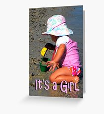It's a Girl card Greeting Card