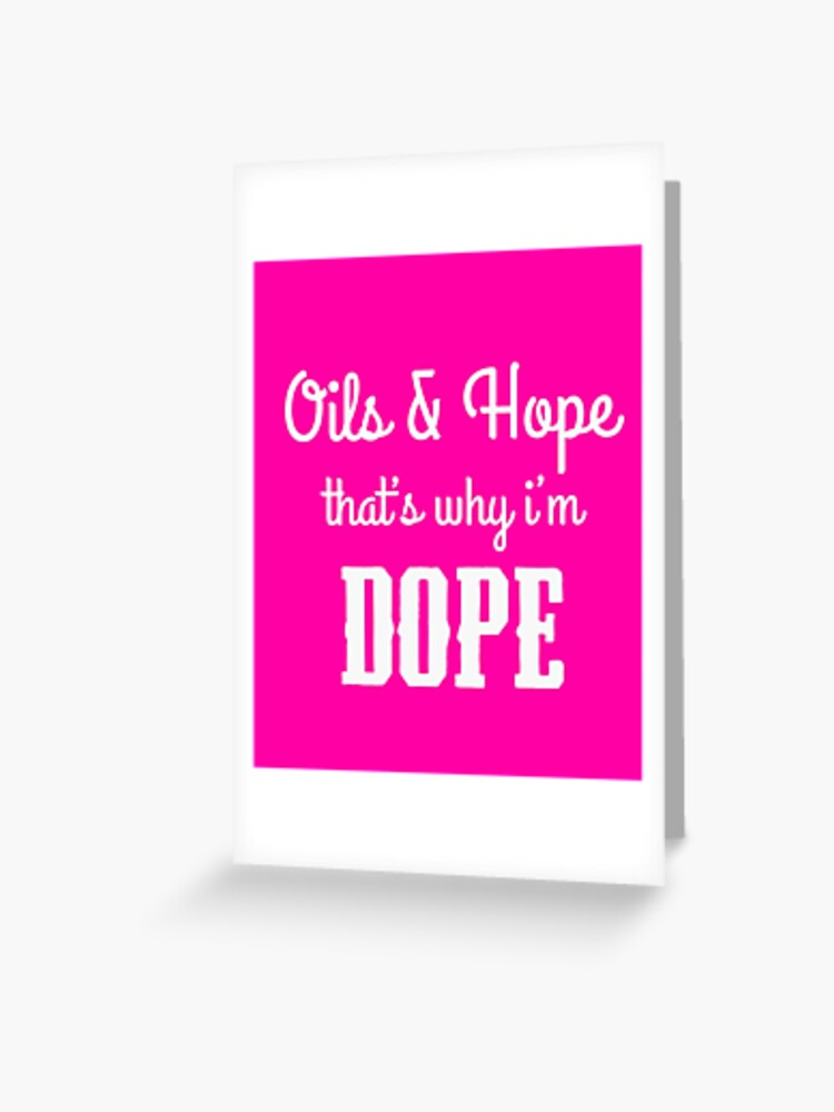 Essential Oils Gift Ideas Oils And Hope Greeting Card By Cheerfuldesigns Redbubble