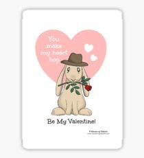 You make my heart hop Sticker