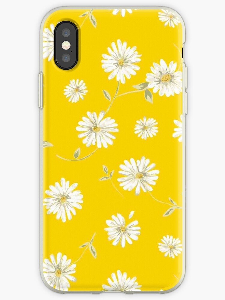 sale retailer e6ed7 9fdcc 'Cute,yellow,white,green,flowers,1970's,retro,vintage,floral,pattern'  iPhone Case by love999
