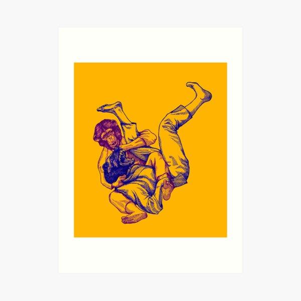 Martial Arts - Way of Life #7 - chimpanzee vs wolverine - bow and arrow choke Art Print