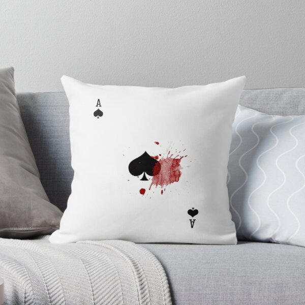 Bloody Ace Throw Pillow
