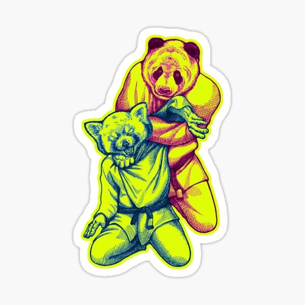 Martial Arts - Way of Life #4 - Panda vs Red Panda - jiu jitsu, bjj, judo submission Sticker
