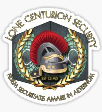 Lone Centurion Security Sticker