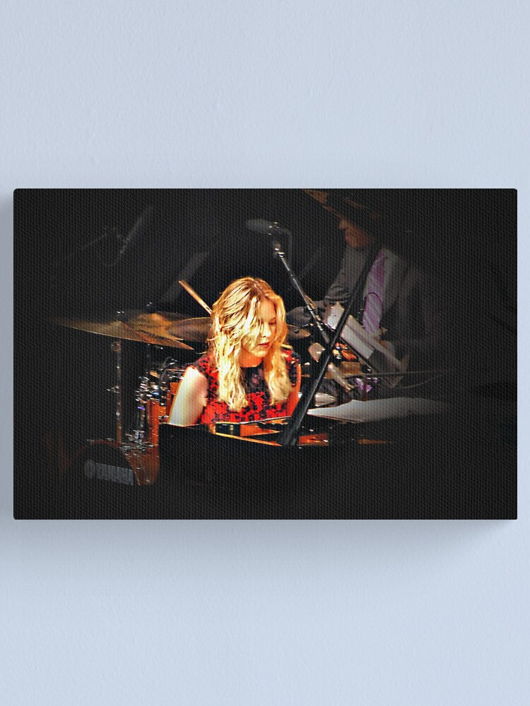 Alternate view of Diana Krall in concert Canvas Print