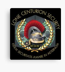 Lone Centurion Security Canvas Print