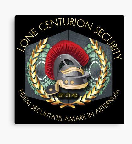 Lone Centurion Security Canvas Print