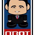 Badger Bot Politico'bot Toy Robot 2.0 by Carbon-Fibre Media