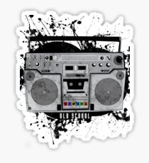 old school boom box Sticker