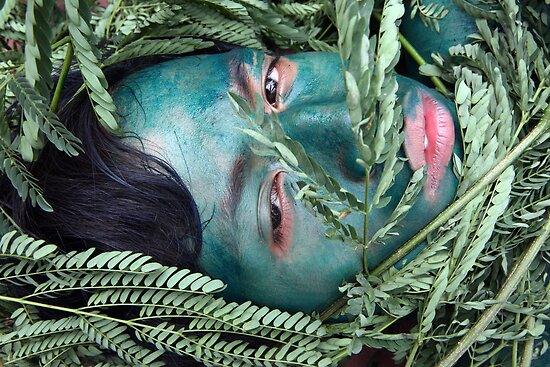 Green Face For Green Earth by RONI PHOTOGRAPHY