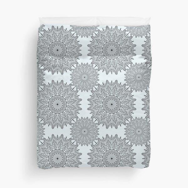 Strokes in grey Duvet Cover
