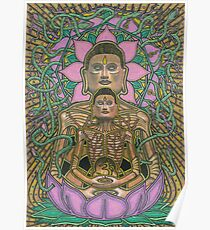 Ascetic Buddha, Ink & Pencil Poster