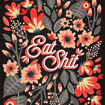 Essen Sie Sh * t - Rot & Kohle-Palette von catcoq