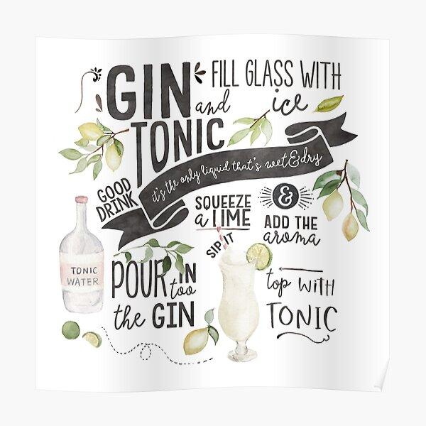Cuando la vida te da limones Gin /& Tónico Cojín cita Diversión G /& T cita Regalo Ideal
