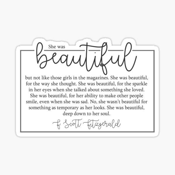 She Was Beautiful Sticker