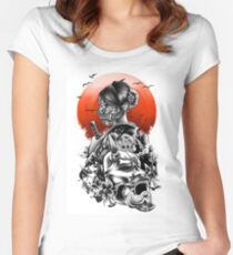 The day of sakura Women's Fitted Scoop T-Shirt