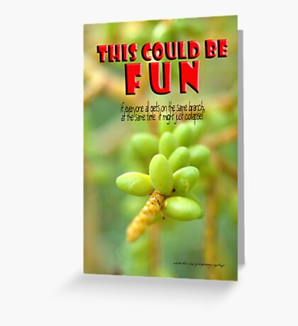 oh to be a kid again go on, dare me © Vicki Ferrari Photography Greeting Card
