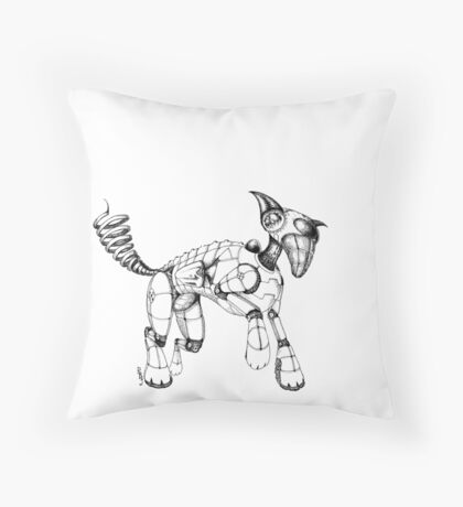 Space Doggie: Tintruck Traytray Throw Pillow