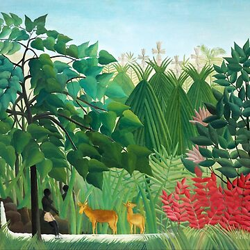 Henri Rousseau - The Waterfall - Oil Painting 1910 by STYLESYNDIKAT
