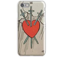 Three of Swords Tarot iPhone Case/Skin