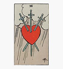 Three of Swords Tarot Photographic Print