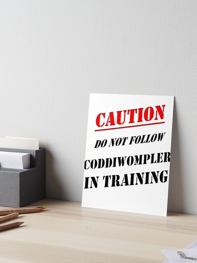 3dRose Taiche T-Shirts Caution Do Not Follow Coddiwompler in Training Text Design Coddiwompler