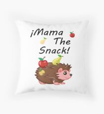 Mama La Merienda Throw Pillow