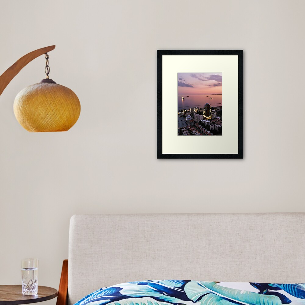 Limassol Twilight Framed Art Print