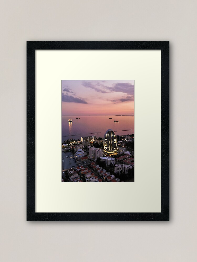 Alternate view of Limassol Twilight Framed Art Print