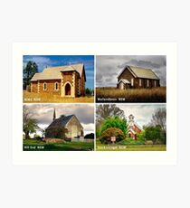 Country Churches NSW Art Print