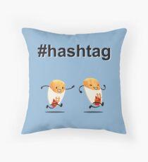 #hashtag Throw Pillow