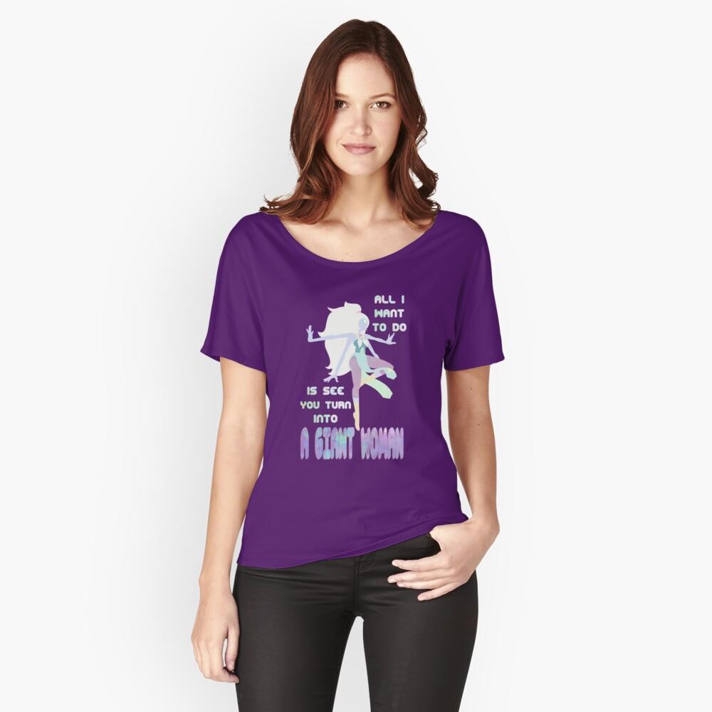 Riesige Frau Loose Fit T-Shirt