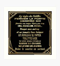 Magnificent Bathroom Rules Sign Wall Art Redbubble Interior Design Ideas Ghosoteloinfo