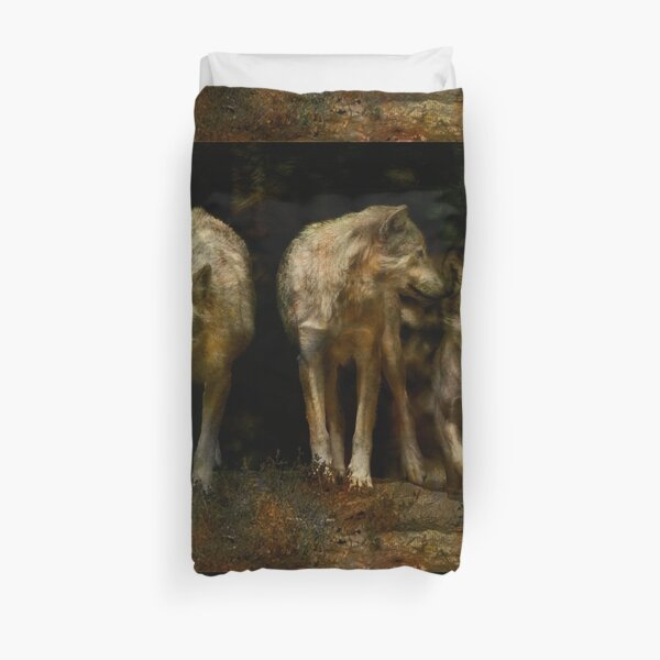 'Three' Pack of three wolves Duvet Cover