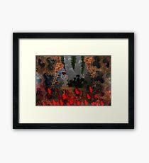 Dragons Fire Cave Framed Print