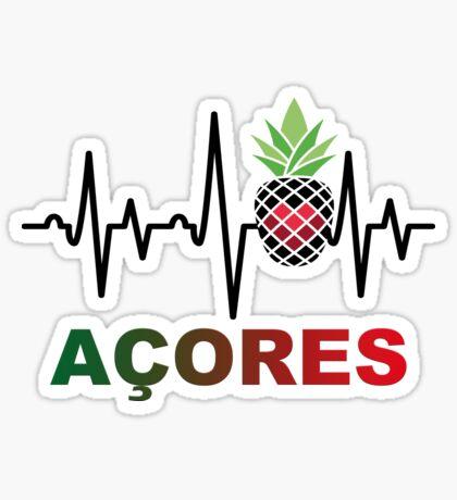 Açores Ananas Heartbeat Sticker