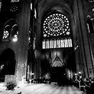 Amongst the faithful - Notre Dame, Paris France by Norman Repacholi
