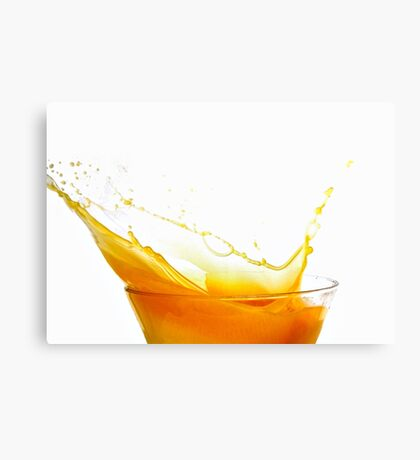 Orange Splash  Canvas Print