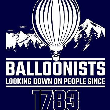 Balloonist Looking Down On People Since Balloon Pilot Gift by stearman