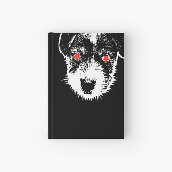Puppy Jack Russell Terrier punk Hardcover Journal
